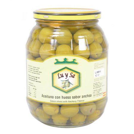 aceitunas con hueso sabor a anchoa de Lu y Sa