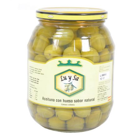 delicious manzanilla olives with stone of Lu y Sa