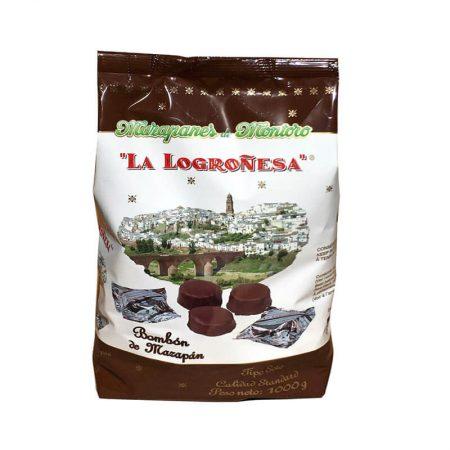 mazapanes de Montoro con chocolate La Logroñesa