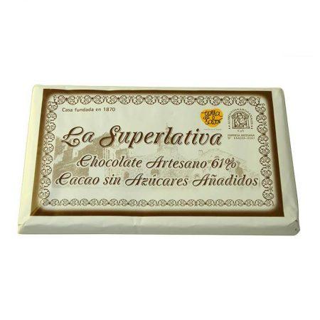 delicioso chocolate negro sin azúcar de la Superlativa