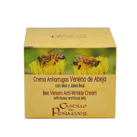 Anti-wrinkle bee venom cream  of Castillo de Peñalver, natural cosmetic