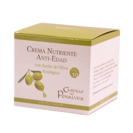 Nourishing cream with organic olive oil