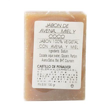 Jabón natural de avena y miel de Castillo de Peñalver