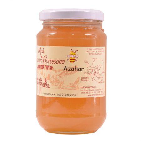 Bote de miel ecológica de azahar de 500 g del Rancho Cortesano