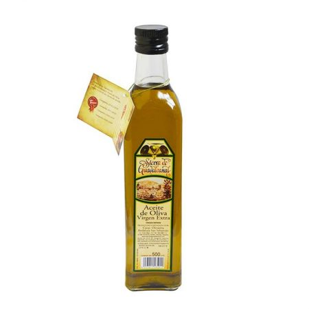 Bottle of olive oil of Guadalcanal