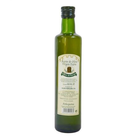 bottle of Torre de Porcuna of arbequina olive oil