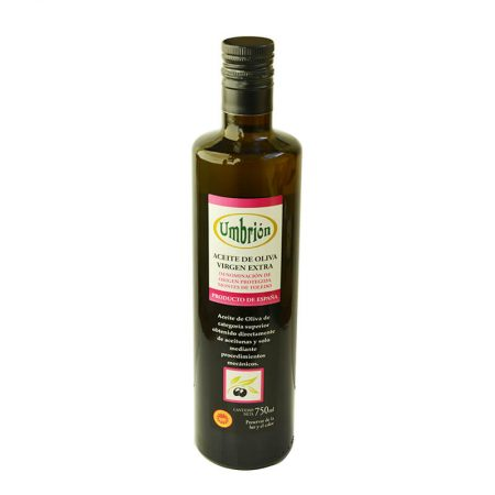 Bottle of 750 ml of olive oil of cornicabra de Umbrión