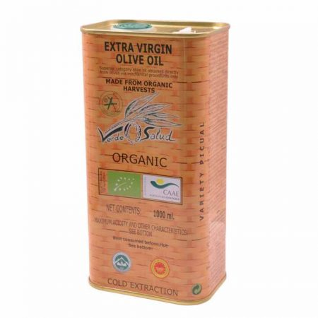1 litre can of organic oil of Verde Salud