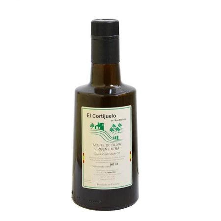 Bottle of olive oil from El Cortijuelo San Benito