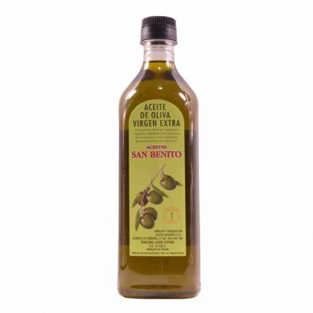 Bottle of 1 l of olive oil of San Benito