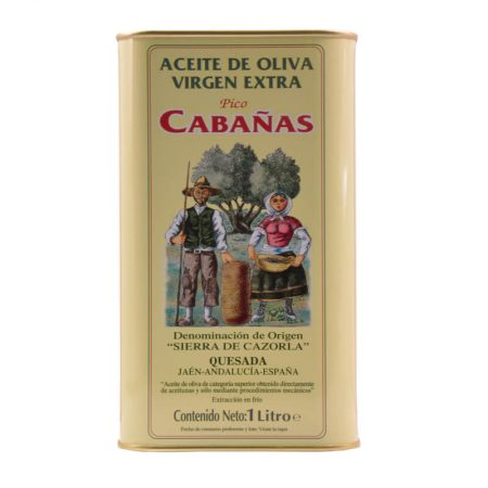 Can of 1 l of picual olive oil of pico Cabañas