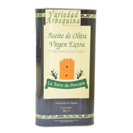 Lata de 5 l de aceite de oliva arbequina de Torre de Porcuna
