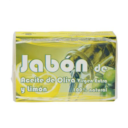 Jabón con aceite de oliva virgen extra y limón de Cosmética Olivo