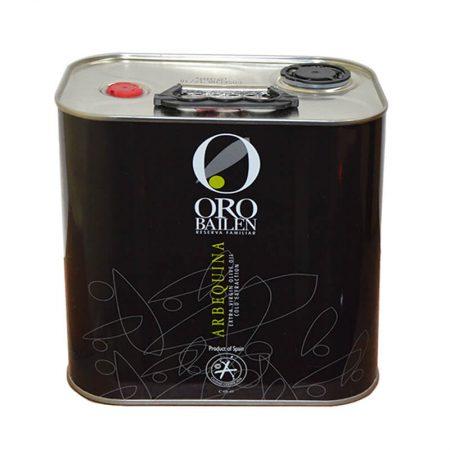 Lata de aceite de oliva arbequina arbequina de Oro Bailén en lata 2.5 l