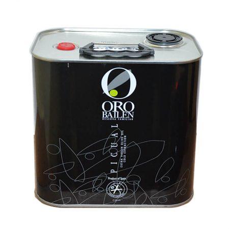 Aceite de oliva virgen extra picual de Oro Bailén en lata 2.5 l