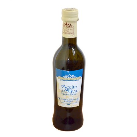 Bottle of organic olive oil of Segorbe Nostrum
