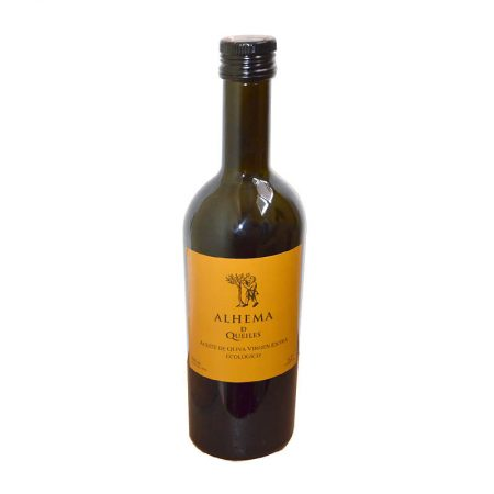 Aceite de oliva Arbequina de Alhema de Queilles, aceite de Navarra