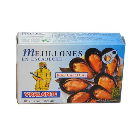 deliciosos mejillones en escabeche el Vigilante