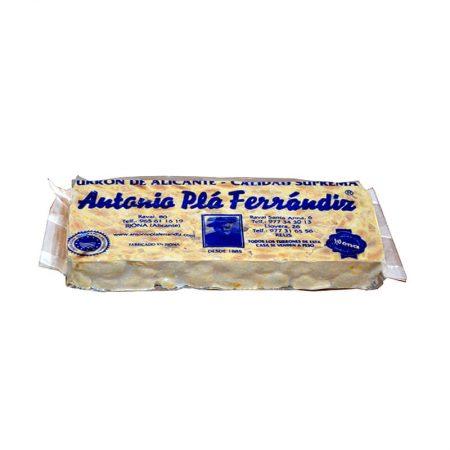 Turrón duro de almendra de Antonio Plá-Fernandiz.