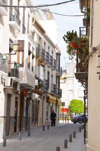 calles del pueblo de Baena