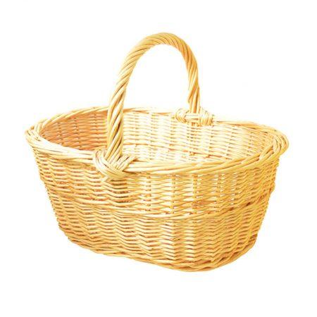 cesta de mimbre hecha en España