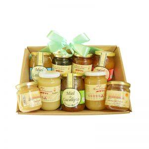cesta de regalo de mieles de España