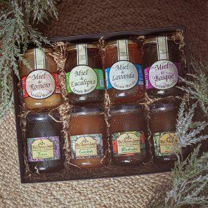 Caja para empresa con 8 variedades de miel
