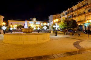 Plaza de Andalucia en Navidad, Porcuna, Jaén