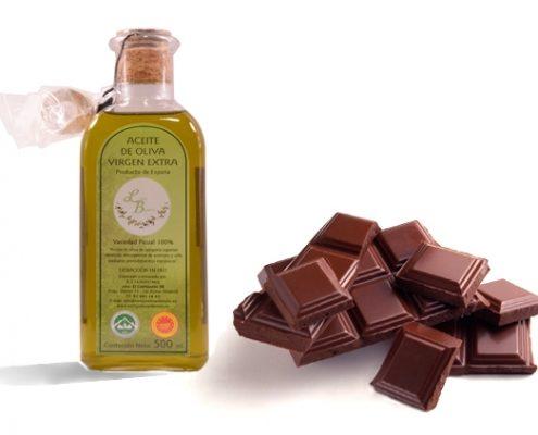 Aceite de oliva virgen extra y chocolate