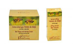 crema antiarrugas de veneno de abeja de castillo de Peñalver