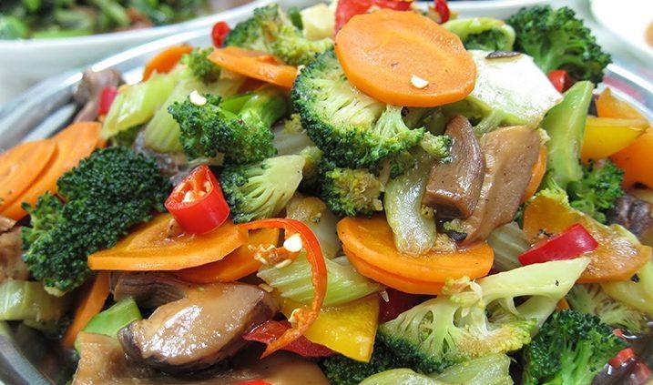 Plato de la dieta vegana