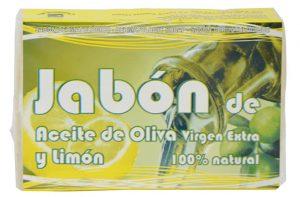 jabón de aceite de oliva virgen extra y limón