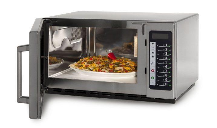 el microondas y los alimentos