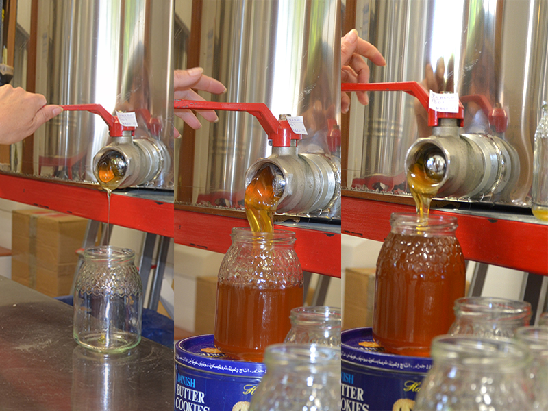 process of packaging unpasteurized honey