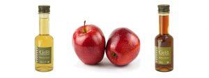 dos tipos de vinagre de manzana
