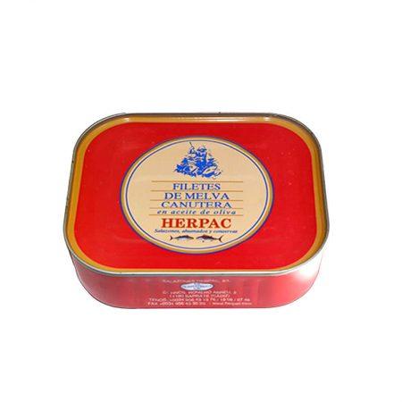 lata de filetes de melva de Herpac