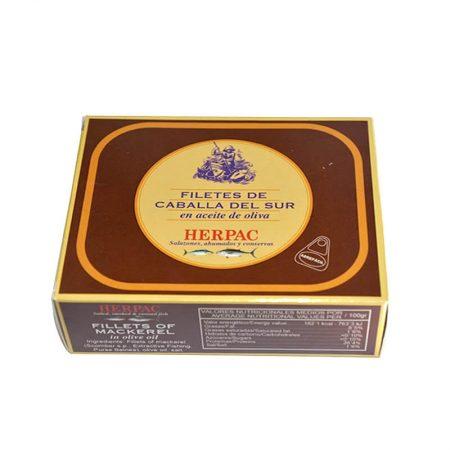 Filete de caballa en aceite de oliva de Herpac