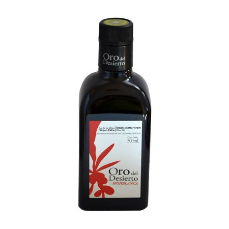 Extra virgin olive oil hojiblanca of Oro del Desierto de 500 ml