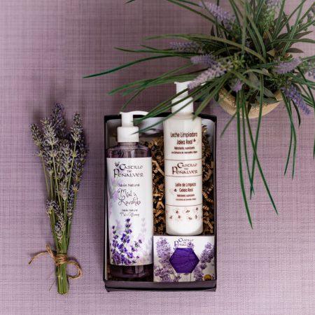 caja regalo 4: Campos de lavanda, fantástica caja con cosmética natural