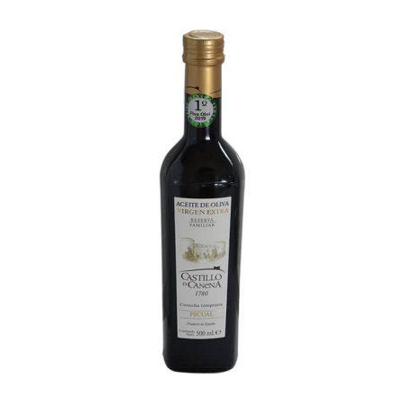 Aceite de oliva virgen extra picual reserva familiar Castillo de Canena