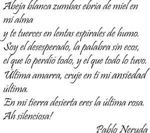 Poema de Pablo Neruda sobre las abejas