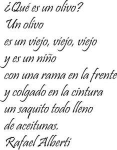 poema sobre los olivos de Rafael Alberti