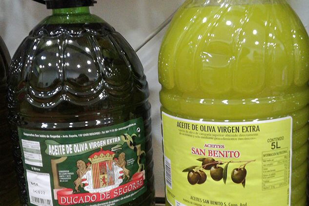 Aceite de oliva virgen extra congelado